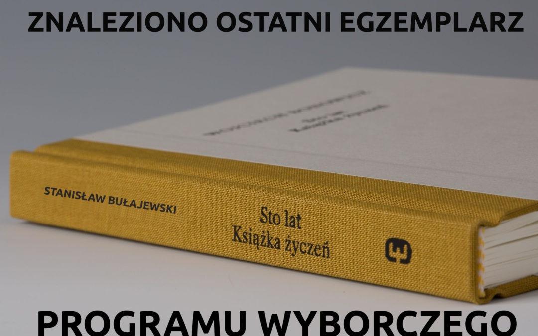 Program wyborczy KWW Stanisława Bułajewskiego