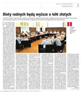 Jak przebiegała dyskusja nt. podwyższenia diet radnym?